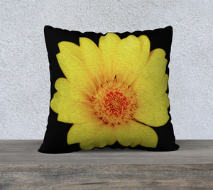 """Sunflower"" 22""x22"" Fine Art Pillow Case"