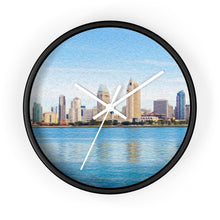 "Load image into Gallery viewer, ""America's Finest City"" 10"" Fine Art Wall Clock"