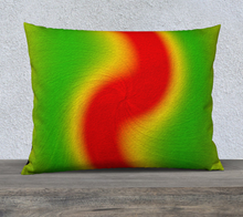"Load image into Gallery viewer, ""Rasta Vibes 1"" - LT 26""x20"" Fine Art Pillow Case"