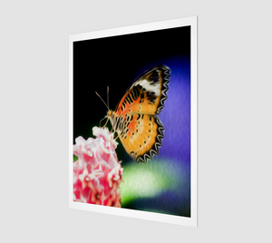 """Malay Lacewing Butterfly I"" Fine Art Print"