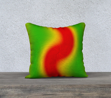 "Load image into Gallery viewer, ""Rasta Vibes 1"" - LT 18""x18"" Fine Art Pillow Case"