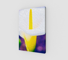 "Load image into Gallery viewer, ""Calla Lily Blossom I"" Fine Art Canvas"