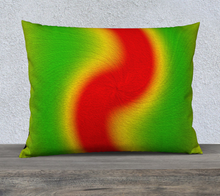 "Load image into Gallery viewer, ""Rasta Vibes 6"" - RB 26""x20"" Fine Art Pillow Case"