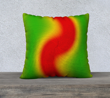 "Load image into Gallery viewer, ""Rasta Vibes 2"" - LT 22""x22"" Fine Art Pillow Case"