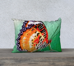 """Malay Lacewing Butterfly II"" 20""x14"" Fine Art Pillow Case"