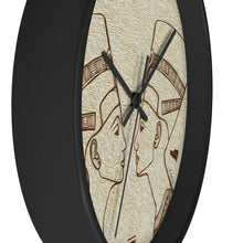 "Load image into Gallery viewer, ""Egyptian King and Queen"" 10"" Fine Art Wall Clock"