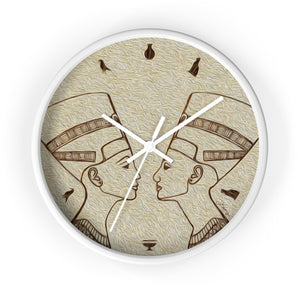 """Egyptian King and Queen"" 10"" Fine Art Wall Clock"