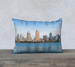 """America's Finest City"" 20""x14"" Fine Art Pillow Case"