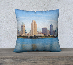 """America's Finest City"" 22""x22"" Fine Art Pillow Case"