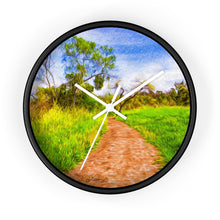 "Load image into Gallery viewer, ""The Path That Lies Ahead"" 10"" Fine Art Wall Clock"