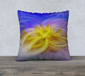 """Convergence 3"" 22""x22"" Fine Art Pillow Case"