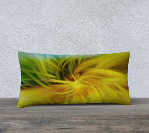 """Whimsical Twirl"" 24""x12"" Fine Art Pillow Case"