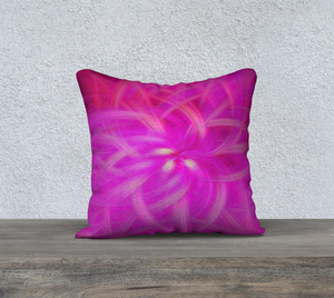 """Floral Imprint"" 18""x18"" Fine Art Pillow Case"