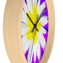 "Load image into Gallery viewer, ""Flower Burst"" 10"" Fine Art Wall Clock"