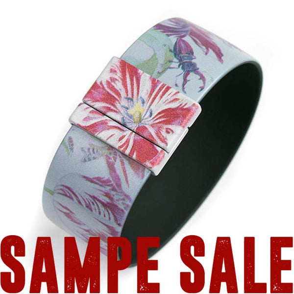 SAMPLE SALE Art Bracelet, Marrel Flowers, 25mm