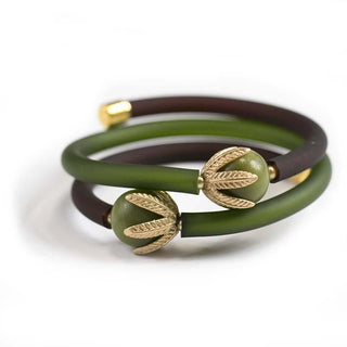 Green Bell, serpentine bracelet