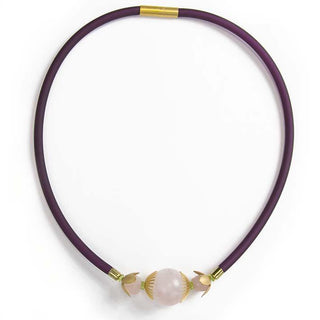 Dandelian, rose quartz necklace L