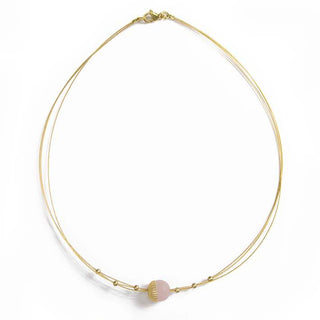 Dandelian, rose quartz necklace S