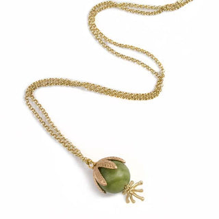 Green Bell, serpentine pendant
