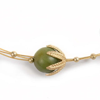 Green Bell, serpentine necklace S