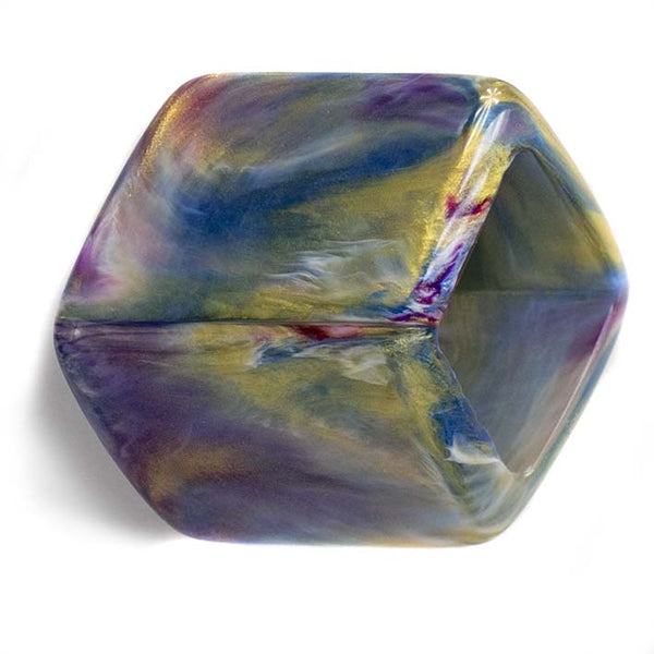 Losse Cube Marble Purple gold.