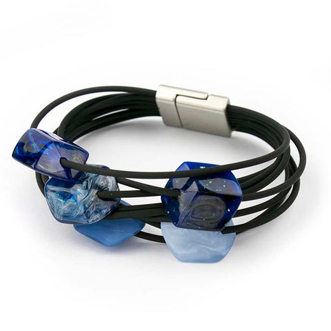 Armband Cube, 5 mini, Blue mix