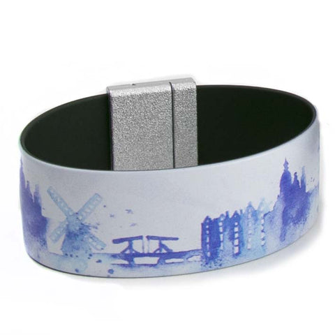 Art Bracelet, Holland landscape, 25mm