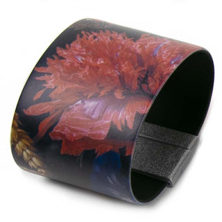 Art Bracelet, De Heem Red Flowers, 50mm