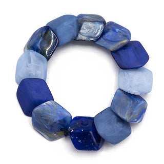 Armband 12 Mini Cubes, True Blue, NIEUW!!