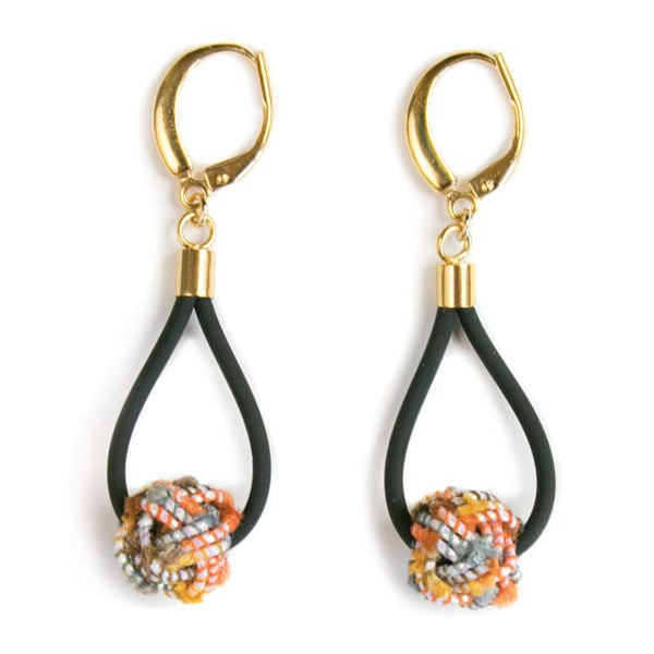 Oorbellen Mizuhiki basic Orange Tassel