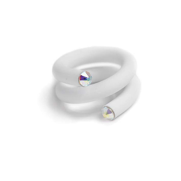 Twisted ring, Opaque White