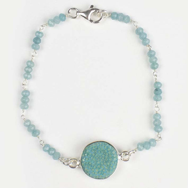CANDY armband turquoise/zilver edelstenen