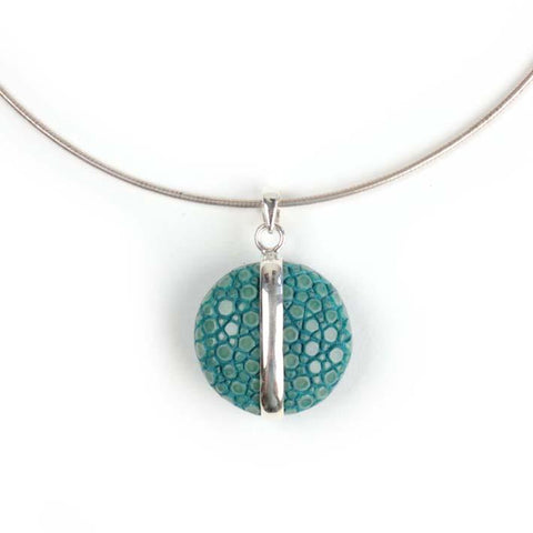 UFO hanger small turquoise zilver