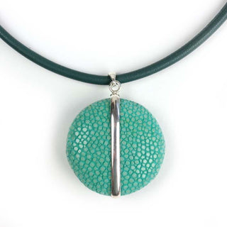 UFO hanger large turquoise zilver