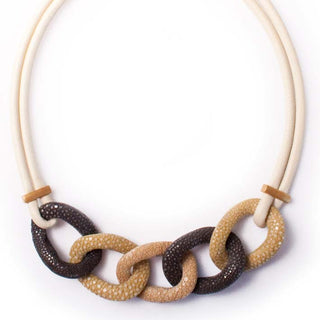 Link L  Ketting Stingray, 5 link,  multi bruin/creme