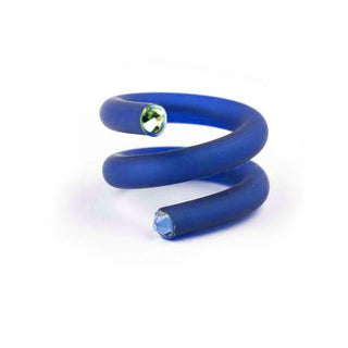 Twisted ring. Kobalt.