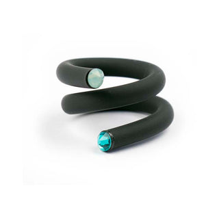Twisted ring, Black/ petrol