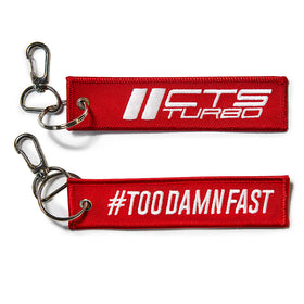 "CTS Turbo Flight Tag – ""#TOODAMNFAST"" – Red"