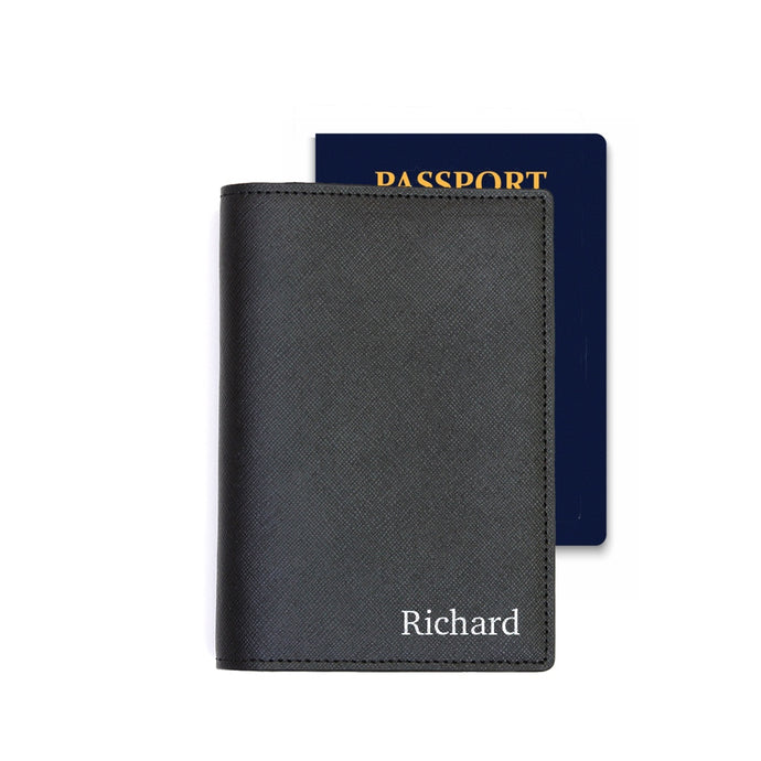 Passport Holder - Black Saffiano Leather - (Standard)