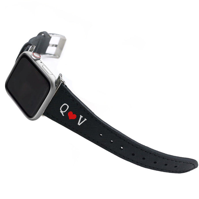 Bisu Bisu Apple Watchband - Black Saffiano Leather - (Watchbands)