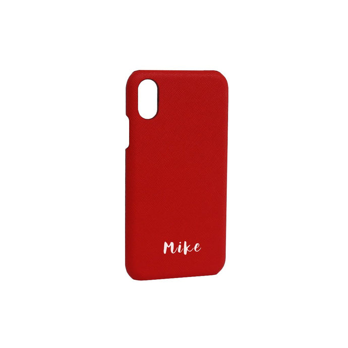 Bisu Bisu Phone Case - Red Saffiano Leather  - (iPhone Cases)