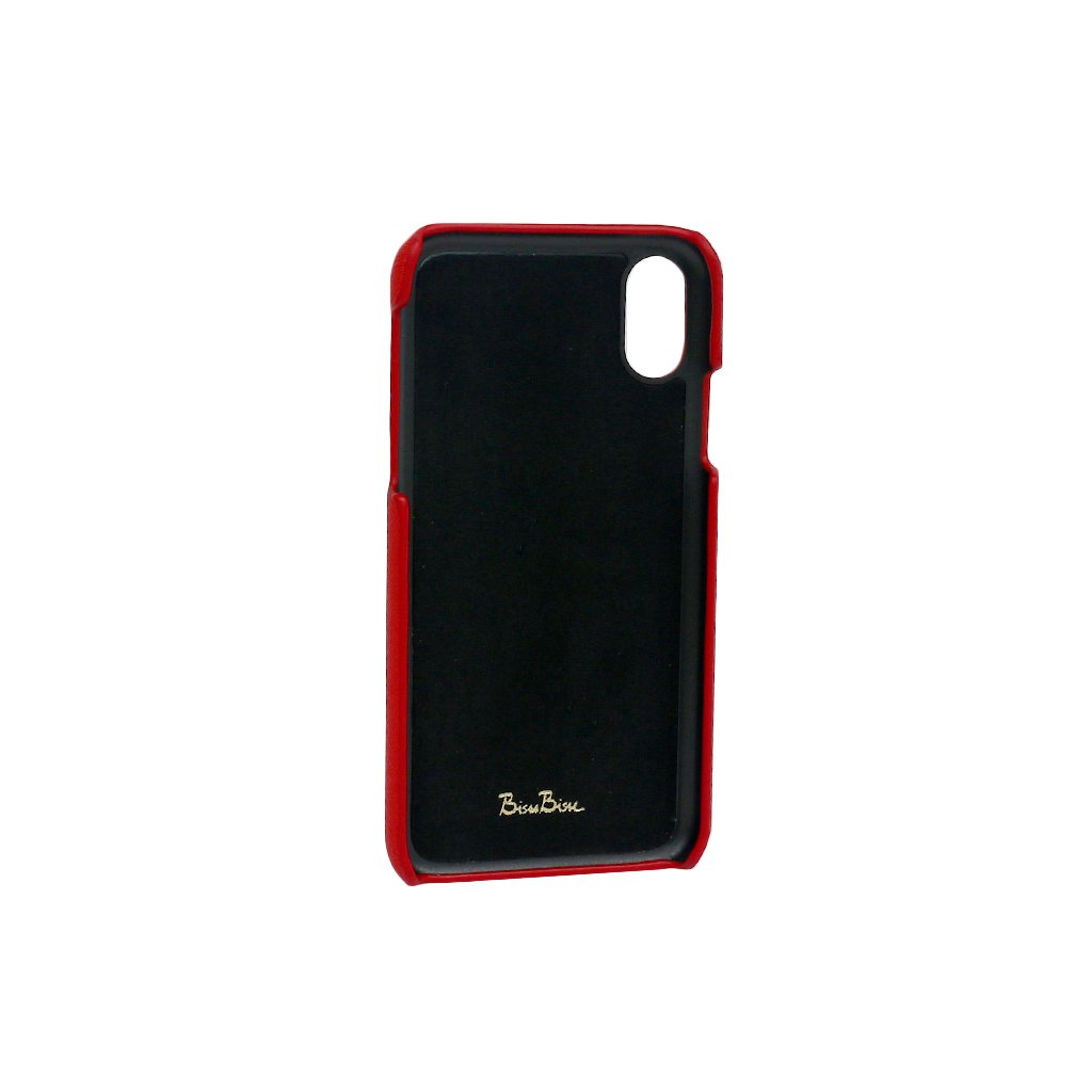 Saffiano Leather Phone Case - Red