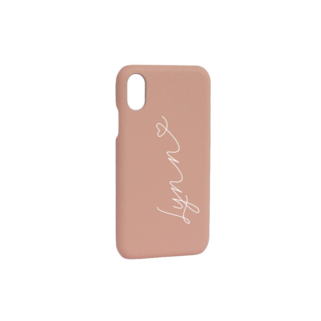 Saffiano Leather Phone Case - Pink