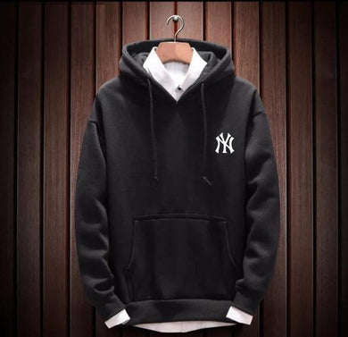 Fleece Solid Men Hoodie