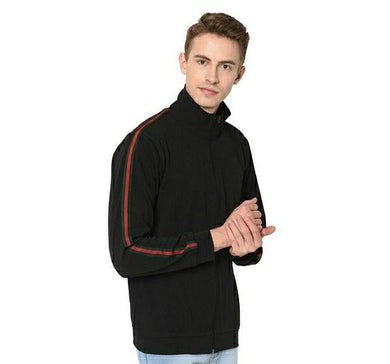 Polyester Elastane Blend Men's black Jacket
