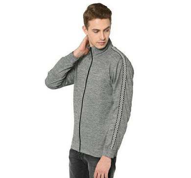 Polyester Elastane Blend Men's Gray Jacket