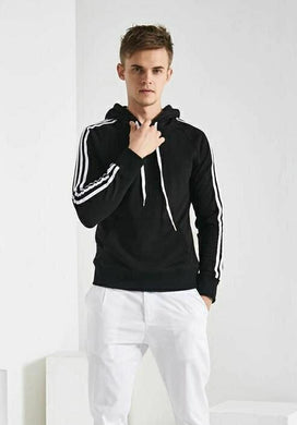 PolyKnit Solid Black Men Hoodies