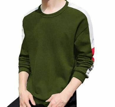Cotton Solid Full Sleeves Mens T-shirts