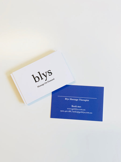 Therapist Business Cards (order via MOO)