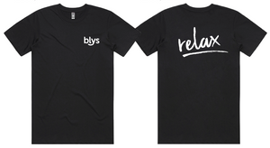 Blys Massage T-Shirt - Men's Black (NEW BRANDING)